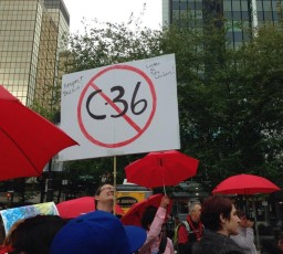 C-36 protest