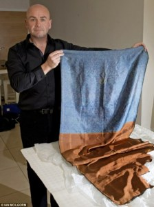 Russell Edwards with supposed Ripper shawl