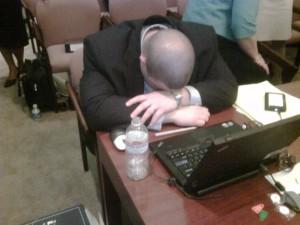 sleeping lawyer