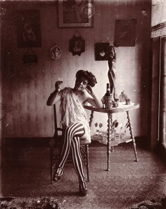 Storyville prostitute drinking Raleigh Rye, photographed by E. J. Bellocq circa 1912