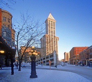 Pioneer Square in winter