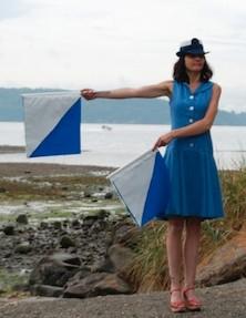 semaphore woman