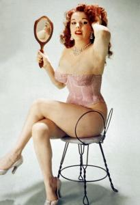 Famous pin-up Blaze Starr (real name Fannie Belle Fleming) in 1950