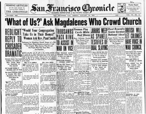 San Francisco Chronicle 1-20-1917