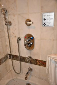 shower in Ciragan Palace Istanbul