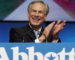 Greg Abbott applauds himself