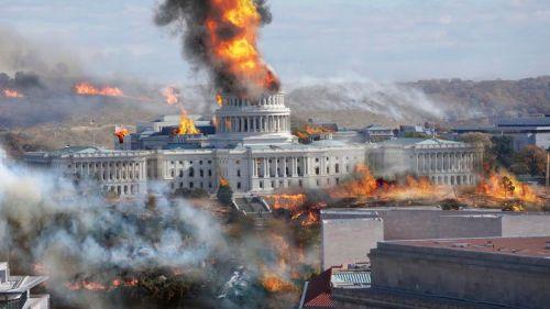Washington burning