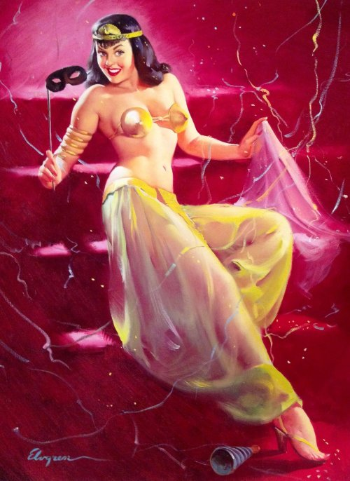 Delightful Surprise by Gil Elvgren
