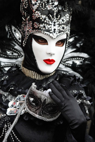masked woman at Venice carnival (2011)
