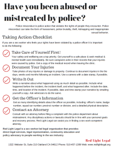police misconduct poster