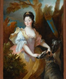 Portrait of a Lady as Diana by Nicholas de Largilliere