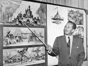 Walt Disney & Disneyland sketches