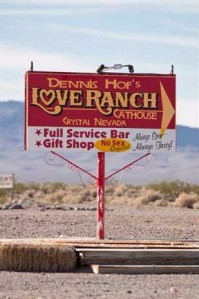 Love Ranch sign